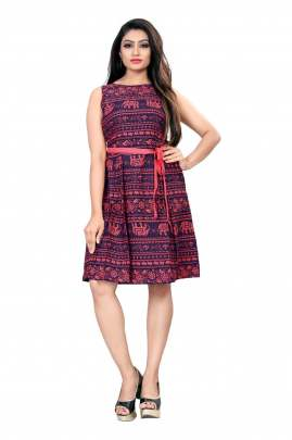 Printed Western Wear Dress